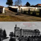 Schloss Neustrelitz Prinzengarten früher heute Bildvergleich