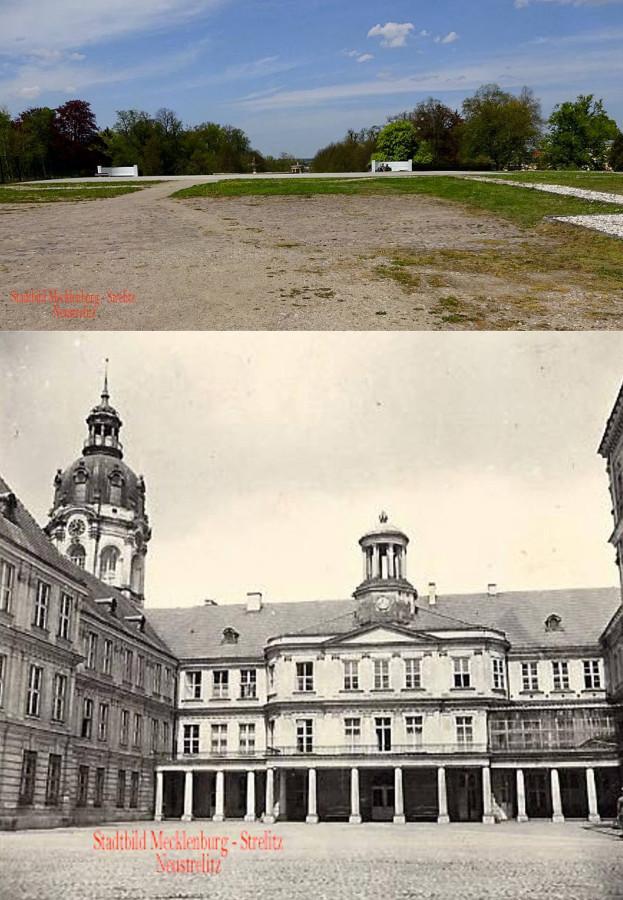 Schloss Neustrelitz Bildvergleich Tiergarten Stadtbild MST