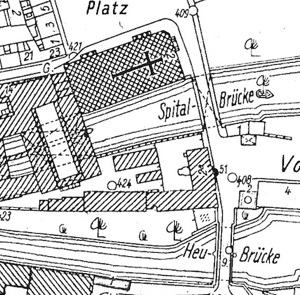Spitalareal 1945