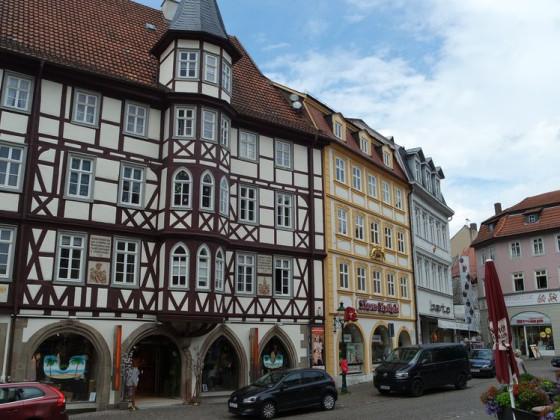 Fulda, Mollenhauerhaus und Löwenapotheke