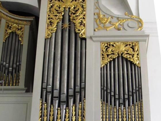 Lahm Schlosskirche: rechte Seite des Prospekts