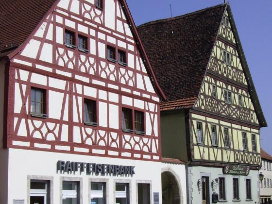 Fachwerk am Marktplatz von Röttingen