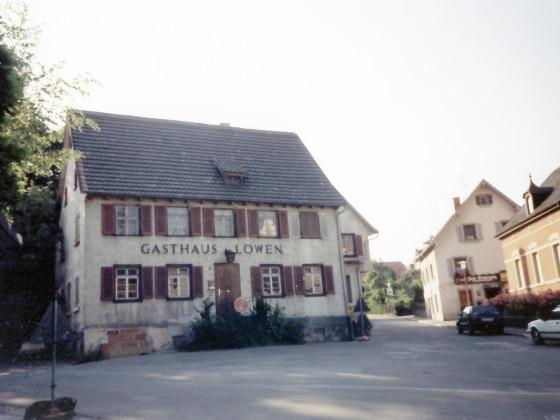 eheml. Gasthaus Löwen Grabenstraße/ Ecke Nollenstraße Gengenbach, 90er Jahre 20.Jh.
