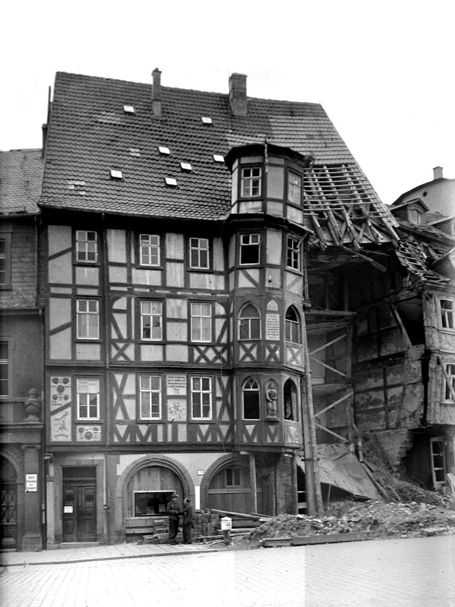 Fulda, Mollenhauerhaus nach Kriegseinwirkung