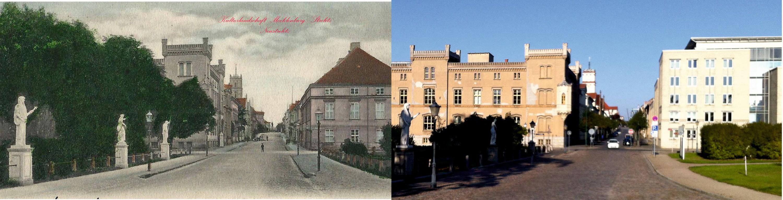 Schloßstraße Ecke Promenade Neustrelitz Bildvergleich 1903 2017 Kulturlandschaft MST