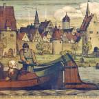 Romantische Adaption des Genies Albrecht Dürer, Fahrt auf dem Main vorbei an Sulzfeld