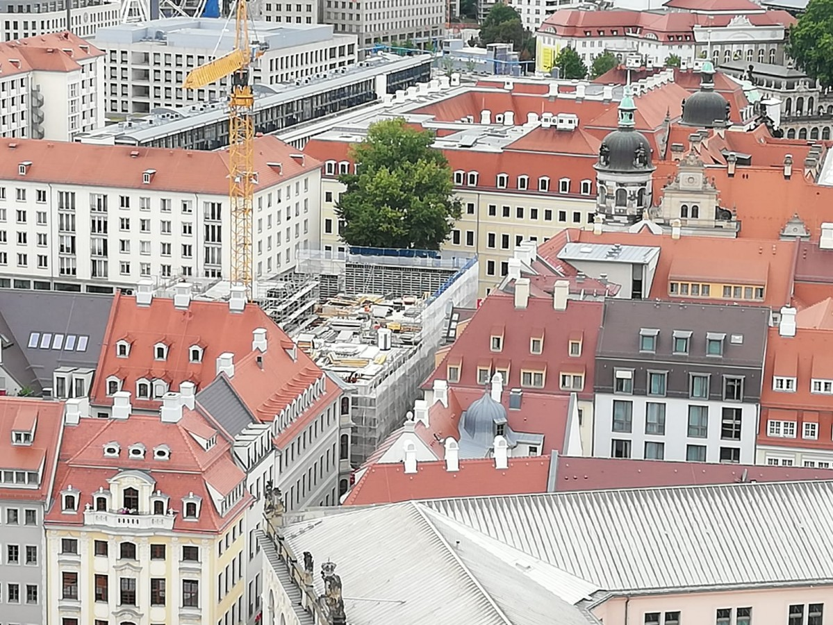 Blick v. Frauenkirche  29.08.2020