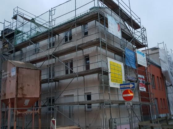 Badstüberstrasse Neubauten Stralsund Dezember 2017