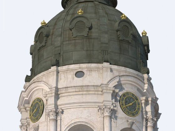 Schloss-Turm Neustrelitz 3D-Modell Architectura Virtualis Residenzschlossverein AP Holger Wilfarth
