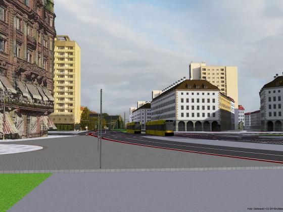 Pirnaischer Platz Richtung Grunaer Straße