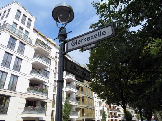 Zillestraße und Gierkezeile
