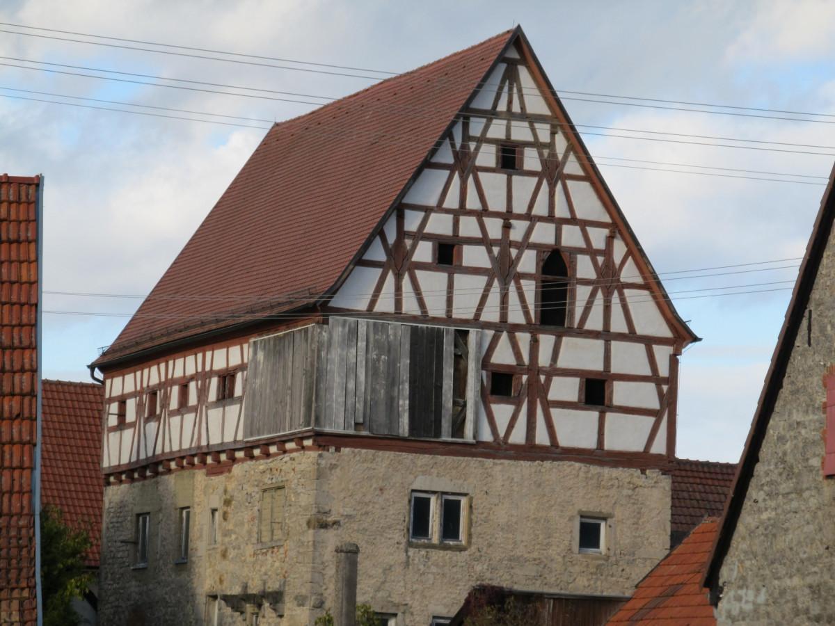 "Röttingen: der ""Hohe Bau"" ( Amtshaus ? )"