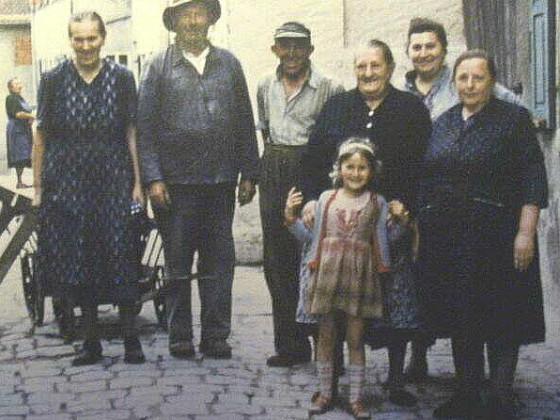 Bewohner des Vorderen Spitzenbergs um 1960