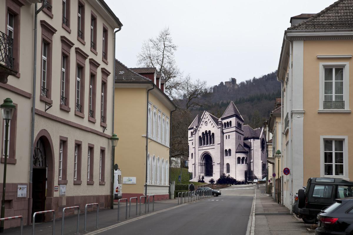 Fotomontage hist. Synagoge Baden-Baden
