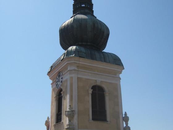 Barocker Turmaufsatz des Stadtpfarrkirchenturmes