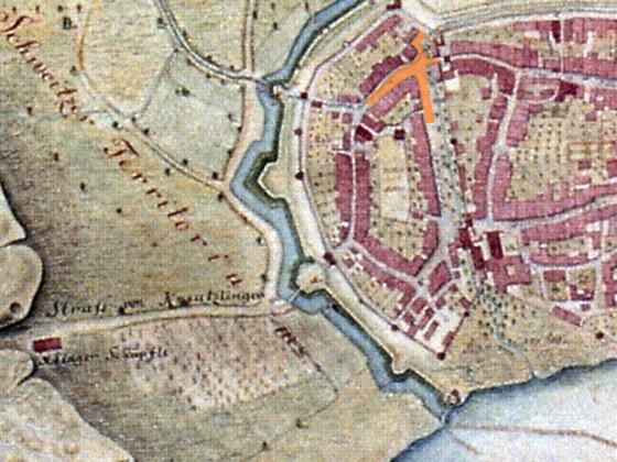 Konstanz Stadelhofen Stadtplan 1807