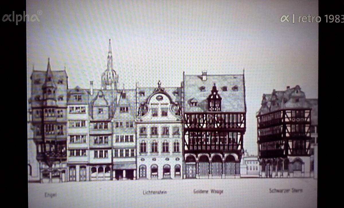 Römerbergzeile Ostzeile Planung Samstagsberg 1980er