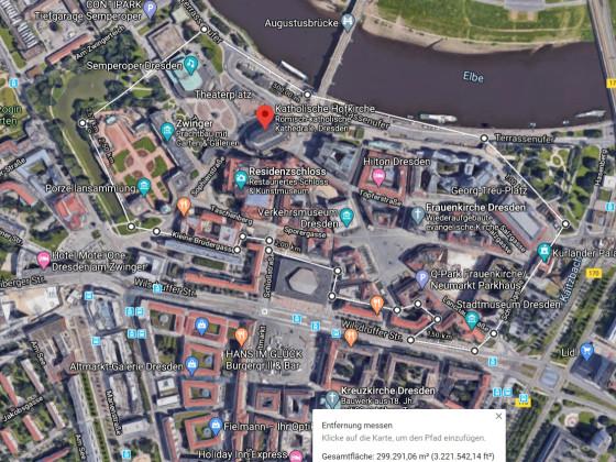 Stadtgrundriss Dresden Rekobereich