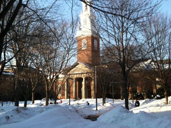 Harvard University Memorial Church  (ca. 1936).
