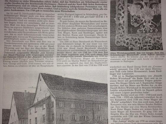 Wirtshausgeschichte Schömberg 1