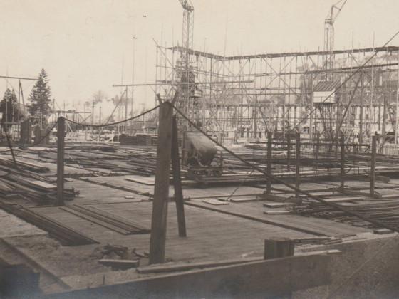 St. Gallen - Bau der Hauptpost 1912