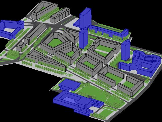 Pirnaische Vorstadt Isometrie 1 (Groß)