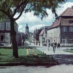 Neustrelitz Schloss 1940 Turm Marktplatz Postkarte