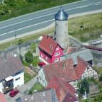 Luftbild Schneckenturm und Häuschen