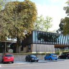 Denkmalgeschützte Stadtbibliothek aus den 1960er