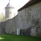 Stadtmauer - im Hintergrund der Schneckenturm