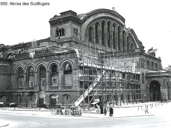 Berlin, Anhalter Bahnhof, Abriss