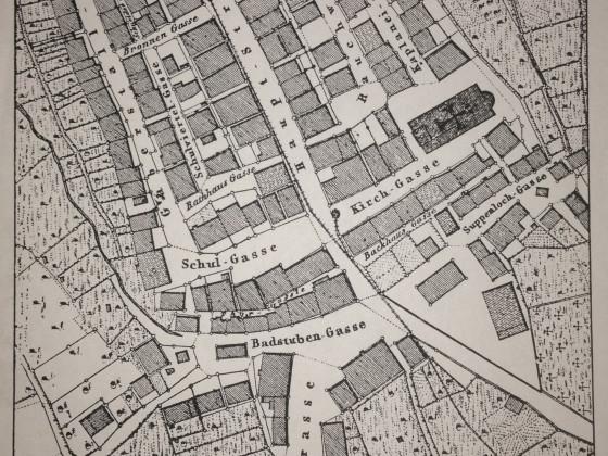 Grundriss Altstadt Schömberg 1837
