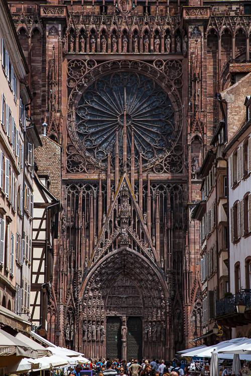 Westfassade des Straßburger Münsters