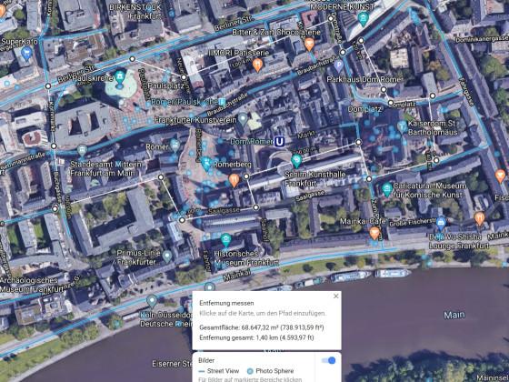Stadtgrundriss Frankfurt