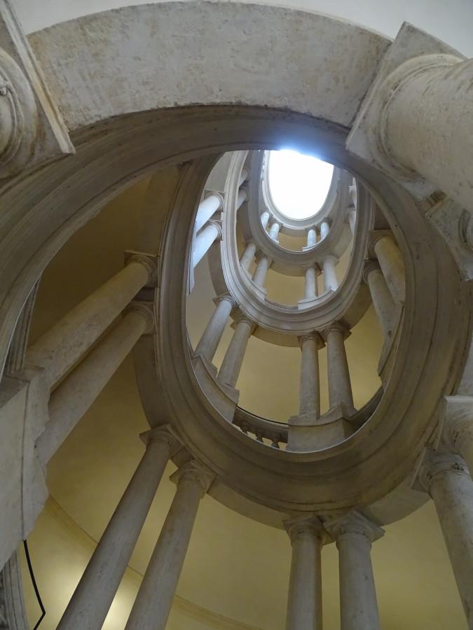 Treppenhaus von Borromini im Palazzo Barberini, Rom