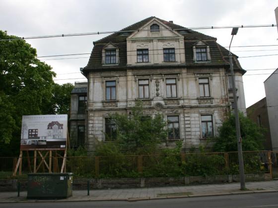 Leipzig-Plagwitz Karl-Heine-Str. 33 Villa Frosch vorher