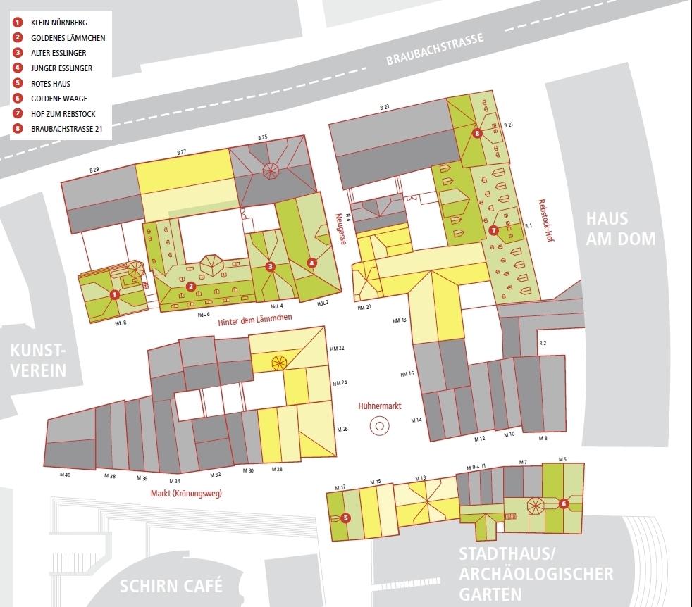 Frankfurt, Dom-Roemer-Areal, Bebauungskonzept.