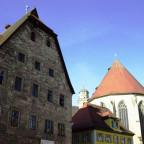 Blick vom alten Rathaus zum Chor von St. Georg