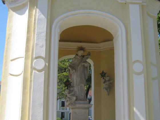 nochmals die Kapelle mit hl. Johannes Nepomuk