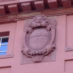 Theater Mainz 1910 Detail Pan und Jahreszahl