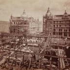Bau der Kaiser-Wilhelm-Brücke, Rückwardt 22. Juni 1887