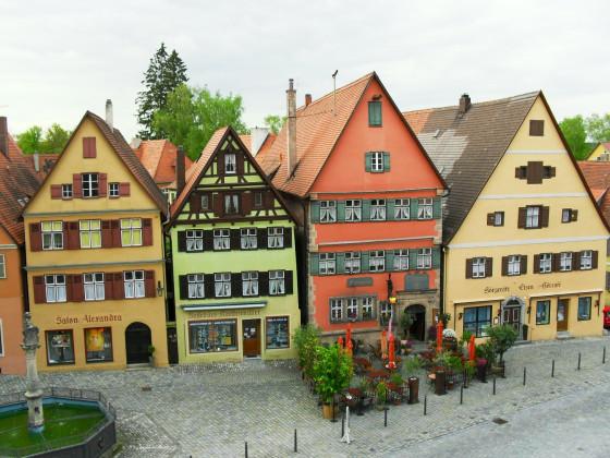 Giebelhäuser am Wörnitztor