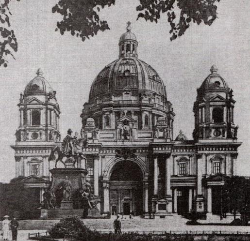 Dom Berlin 1917 Entwurf Reduktion Kuppel Laternen