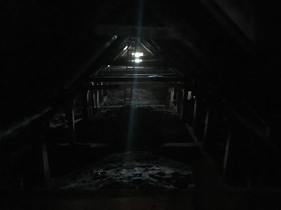 Ostönnen - Dachstuhl der Pfarrkirche aus dem 12. Jahrhundert