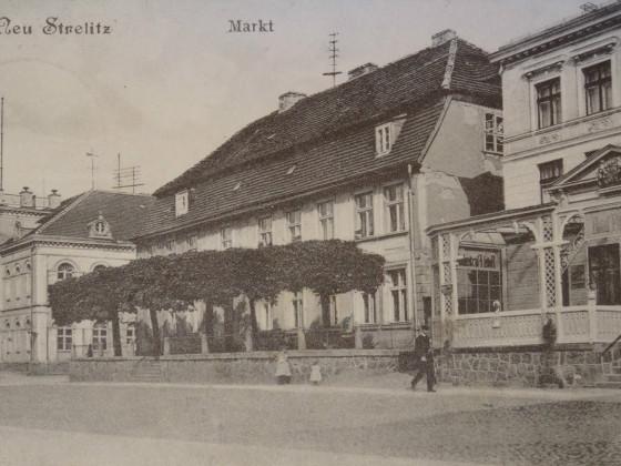 Neustrelitz Markt, Hotel Fürstenhof 1915