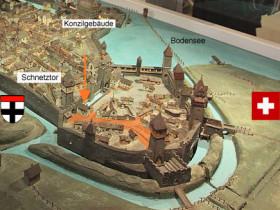 Modell Ausschnitt Konstanz Stadelhofen Spätmittelalter