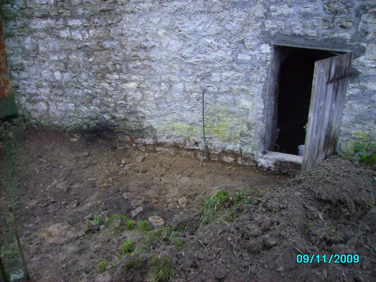 Mauerpforte ( Feldseite ) zum Flur des Hauses Erbsengasse 9
