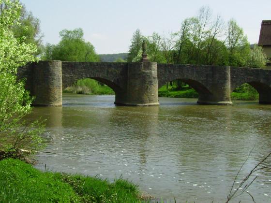Steinerne Brücke Tauberrettersheim 1732 ( Balthasar Neumann )