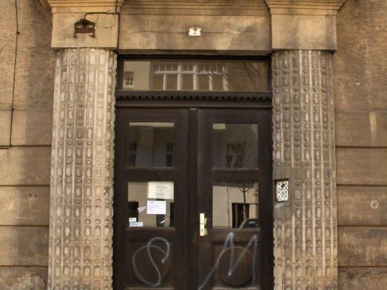 Leipzig Südvorstadt Fockestr 2 Tür alt