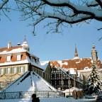 Marktplatz Feuchtwangen im Winter 2004